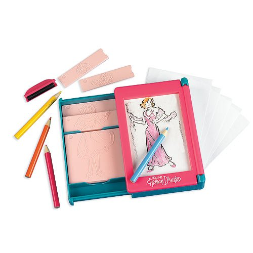 Barbie Fashion Plates Rub Coloring Pocket Fashion Designer