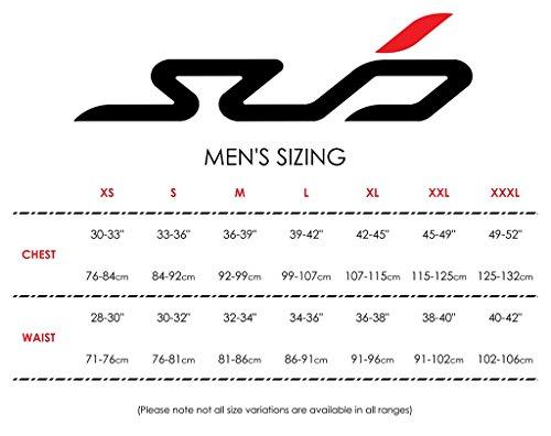 Sub Sports Men's Cold Winter Compression Thermal Base Layer Shorts-Orange, Small