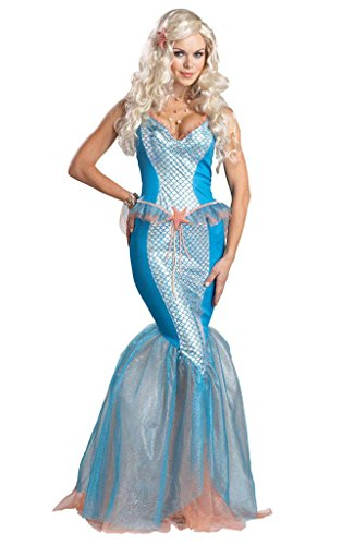Happy&cos Women's Adult Sexy Elf Starfish Mermaid Costumes