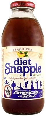 Snapple Diet Peach Tea 16 FL OZ (473ml) x 6 von Snapple Beverage Corp bei Gewürze Shop