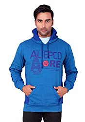 Aliep Alluring Blue Colored Poly Cotton Printed Sweatshirt For Men | ALPAW1548BLU