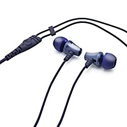 Brainwavz Jive Noise Isolating IEM Earphones With Remote & Mic For Apple iPhones, iPad, iPod & Other iOS Devices (Blue-iOS)