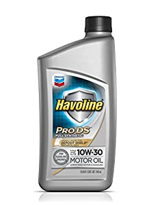 Havoline 223724482 6pk 10w 30 synthetic for How often to change synthetic blend motor oil