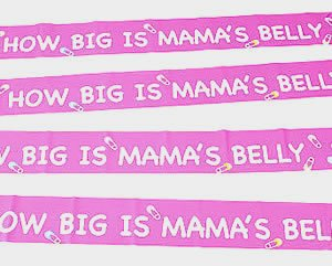 How Big is Mama's Belly ~ Baby Shower Game