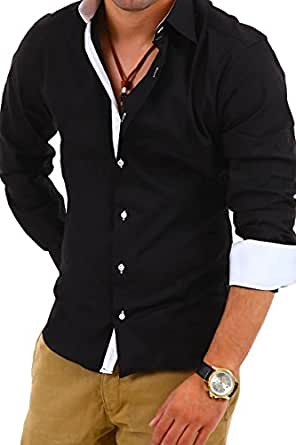 MyTrends - Chemise tendance coupe slim - BH-314 - Taille S