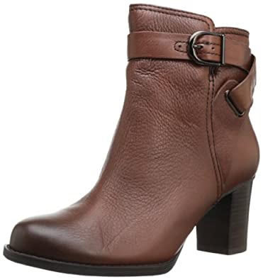 其乐Clarks Women's Jolissa Topaz Boot女士真皮高跟短靴折后$77.96 棕色