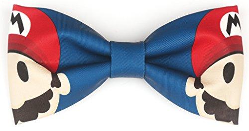 OLIVE OLIVIA Handmade Creative Mens Bow Tie Adjustable Neck Bowtie (Blue Cartoon) (Creative Bow Ties compare prices)