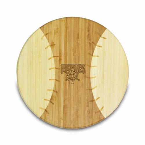 MLB Pittsburgh Pirates Homerun Bamboo Cutting Board with Team Logo, 12-Inch
