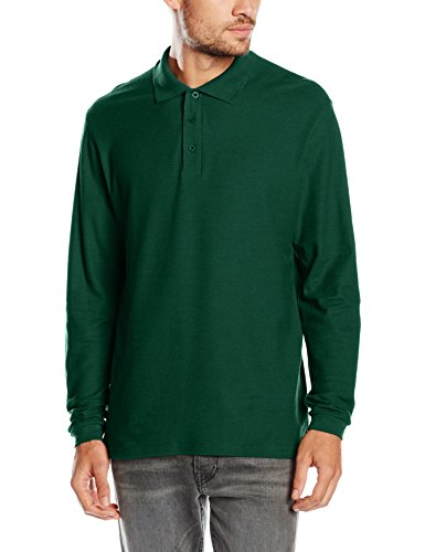 fruit-of-the-loom-premium-long-polo-para-hombre-green-forest-green-medium