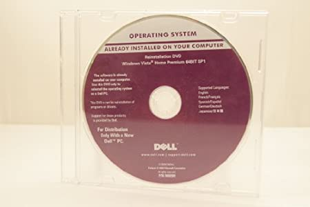 Dell Operating System Microsoft Windows Vista Home Premium 64Bit SP1 Edition Part Number: N069H Year: 2008 Computer Software Program Install