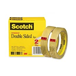 Scotch Double Sided Tape, 3/4 x 1296 Inches, 3-Inch Core, 2 Rolls (665-2P34-36)