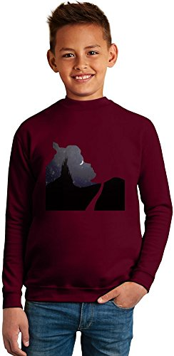 sleeping beauty Superb Quality Boys Sweater by TRUE FANS APPAREL - 50% Cotton & 50% Polyester- Set-In Sleeves- Open End Yarn- Unisex for Boys and Girls 10-12 years