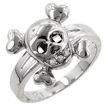 CZ Skull Ring