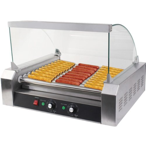 gopus roller dog commercial 30 hot dog 11 roller grill cooker machine w cover ce new. Black Bedroom Furniture Sets. Home Design Ideas