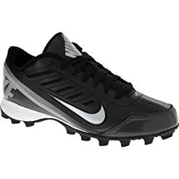 NIKE LAND SHARK 2 LOW FOOTBALL CLEATS SHOES BLACK SILVER Style# 511286 MENS (7.5)