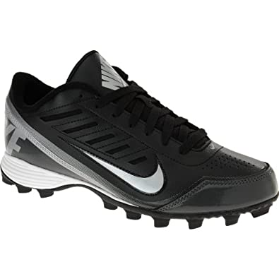 Buy NIKE Mens Land Shark 2 Low Football Cleats - Size: 9, Black silver by Nike