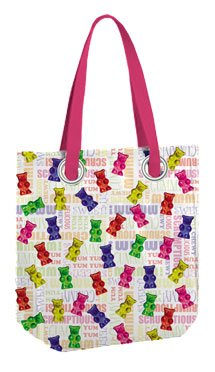 Iscream Gummy Bear Tote Bag  Inside Zip Pocket