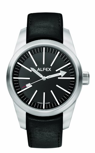 Alfex Men's Leather Quartz Watch 5624_475