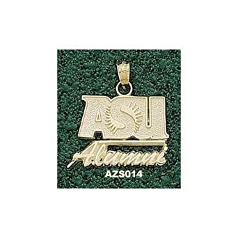 Arizona State Sun Devils Large ASU Alumni Pendant - 14KT Gold Jewelry by Logo Art