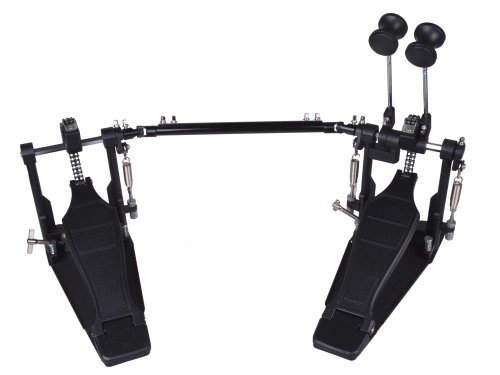 Heavy-Duty Double Bass Drum Foot Kick Pedal Drummers Twin Hardware Chain Drive front-386050