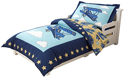KidKraft Toddler Airplane Bedding Set (4-Piece)