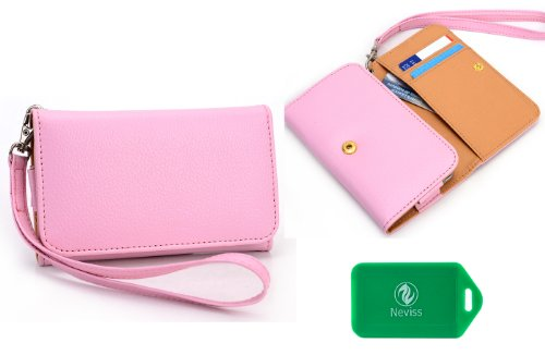 ladies-pink-multi-purpose-smart-phone-case-plus-removable-wristlet-strap-for-tracfone-samsung-galaxy
