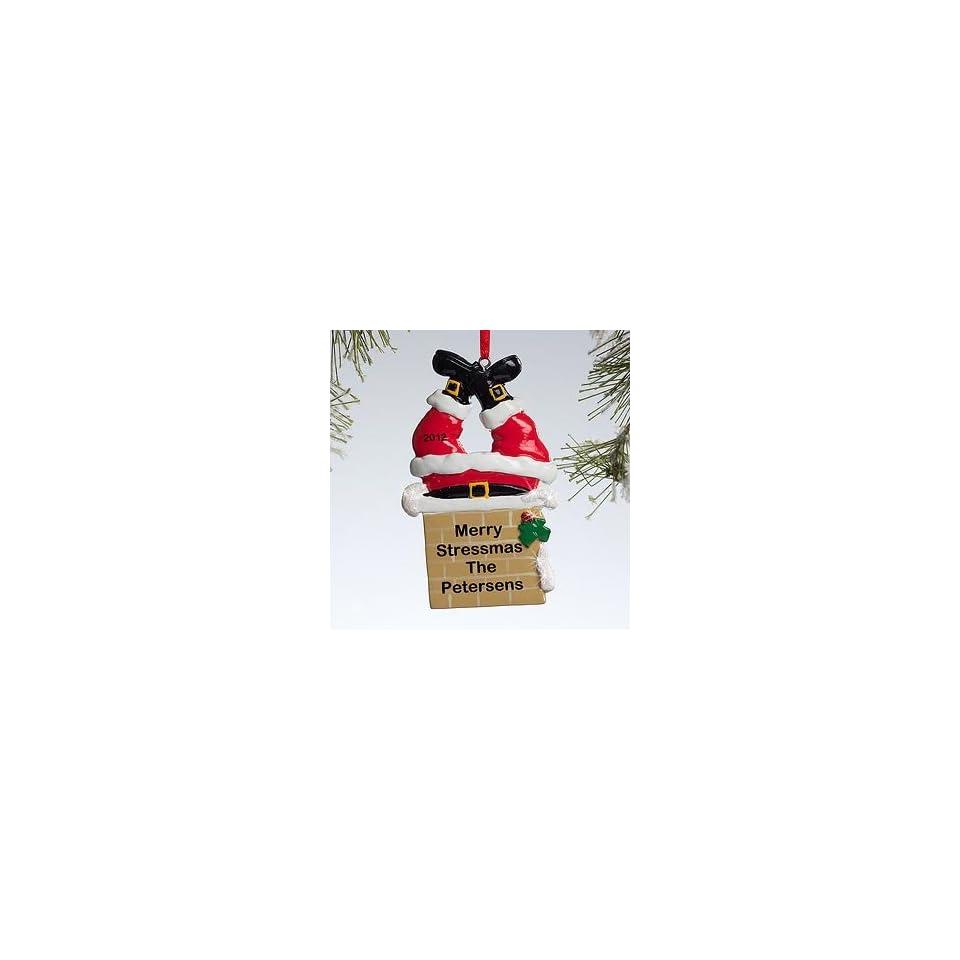 Personalized Christmas Ornaments   Santa Claus Chimney