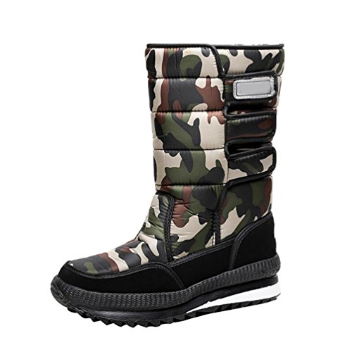 LvRao Scarpe per la neve impermeabili stivali in caucciu per invernali caldo scarponi doposci per uomo # Verde 41