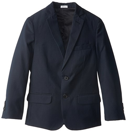 Calvin Klein Big Boys' Ck Pinstripe Jacket, Navy, 18