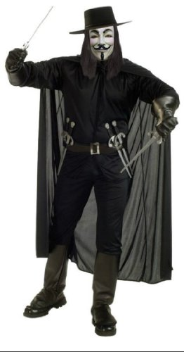 Adult V For Vendetta Costume Xl Adult Mens Costume