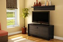 Big Sale South Shore Agora Collection TV Stand and Shelf, Chocolate
