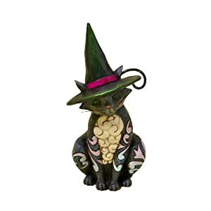 Jim Shore Heartwood Creek from Enesco Halloween Cat Mini Figurine 3.875 IN