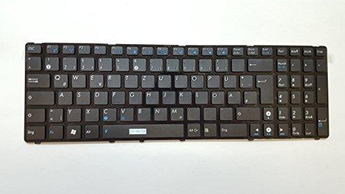 Schwarz - DEUTSCHE ( GR ) - QWERTZ Tastatur mit glänzend Rahmen fuer Asus G51J G51V K53 K53U K55DE K55DR K55N K73BY , F75A-TY133H F75V F75VB F75VC F75VD , F75 F75A F75A-TY037D F75A-TY047 F75A-TY115H