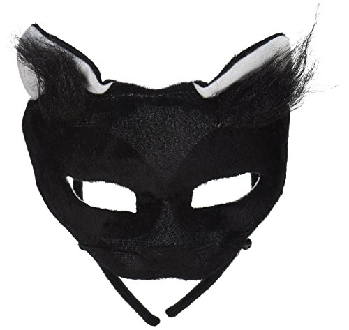 Forum Novelties Deluxe Plush Black Cat Animal Half Mask