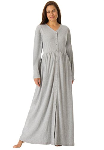 only-necessities-womens-plus-size-long-knit-lounger-heather-grey1x