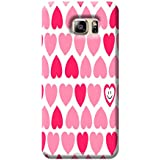 Tecozo Designer Printed Back Cover For Samsung Galaxy S6, Samsung Galaxy S6 Back Cover, Hard Case For Samsung Galaxy S6, Case Cover For Samsung Galaxy S6, (Smiling Heart Pattern Design,Pattern)