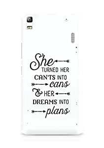 AMEZ cants into cans dreams into plans Back Cover For Lenovo A7000