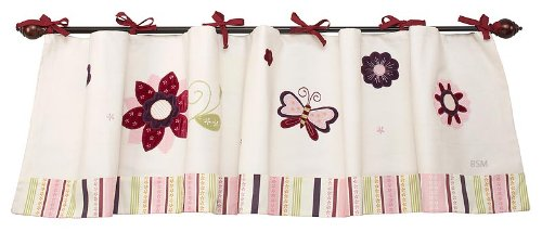 NoJo Mystic Garden Window Valance, Pink (Discontinued by Manufacturer)