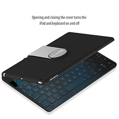 iPad Air Keyboard, JETech® Wireless Bluetooth Keyboard Case for Apple iPad Air with 360 Degree Rotation and Multi-Angle Stand