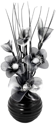 flourish-704490-813-black-vase-with-black-and-white-nylon-artificial-flowers-in-vase-fake-flowers-or
