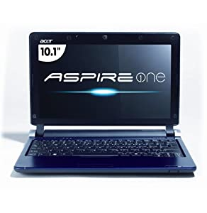 Acer Aspire One AOD250-1165 10.1-Inch Blue Netbook - 3+ Hour Battery Life