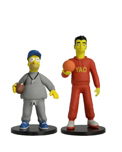NECA The Simpsons 25th Anniversary - Yao Ming and Coach Homer Series 1 Miniature Figure (2-Pack), 3""