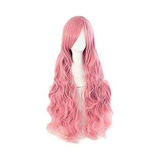 HuaYang Nouveau cheveux naturels sans colle de soie haut perruque de lacet(rose)