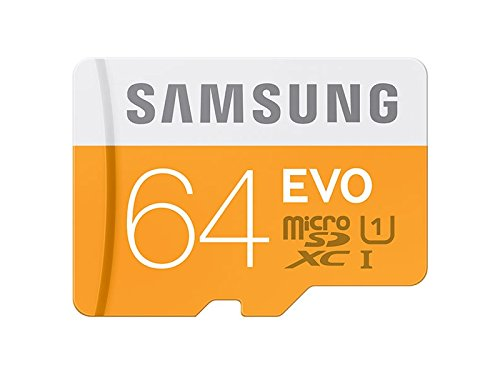Samsung 64 GB Evo MicroSDXC UHS-I Grade 1 Class 10 Memory Card with SD Adapter
