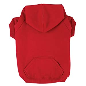 Zack & Zoey Polyester/Cotton Basic Dog Hoodie, Large, 20-Inch, Tomato Red