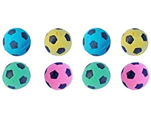 FOAM Soccer Balls Cat Toys - 8 Pack