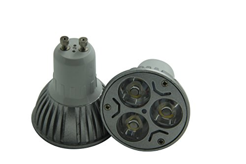 Hqtek Orginal Epistar 1 Pack 3W Gu10 Led Spotlight 85V To 265V(110 & 220 Workable) 240 Lumen -25Watt Equivalent Warm/Soft White(Gu10-3W-Ww)