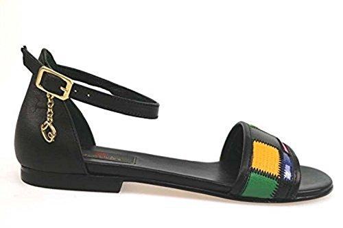 scarpe donna BRACCIALINI 37 sandali nero multicolor pelle AP641