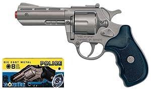 Die cast metal 8-shot ring caps revolver GONHER shot pistol revolver rifle gun collection 33_0 police made in EUROPE.