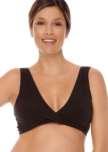 Lamaze Maternity Cotton Spandex Sleep Bra for Nursing and Maternity, Large, Black (Amazon Maternity compare prices)